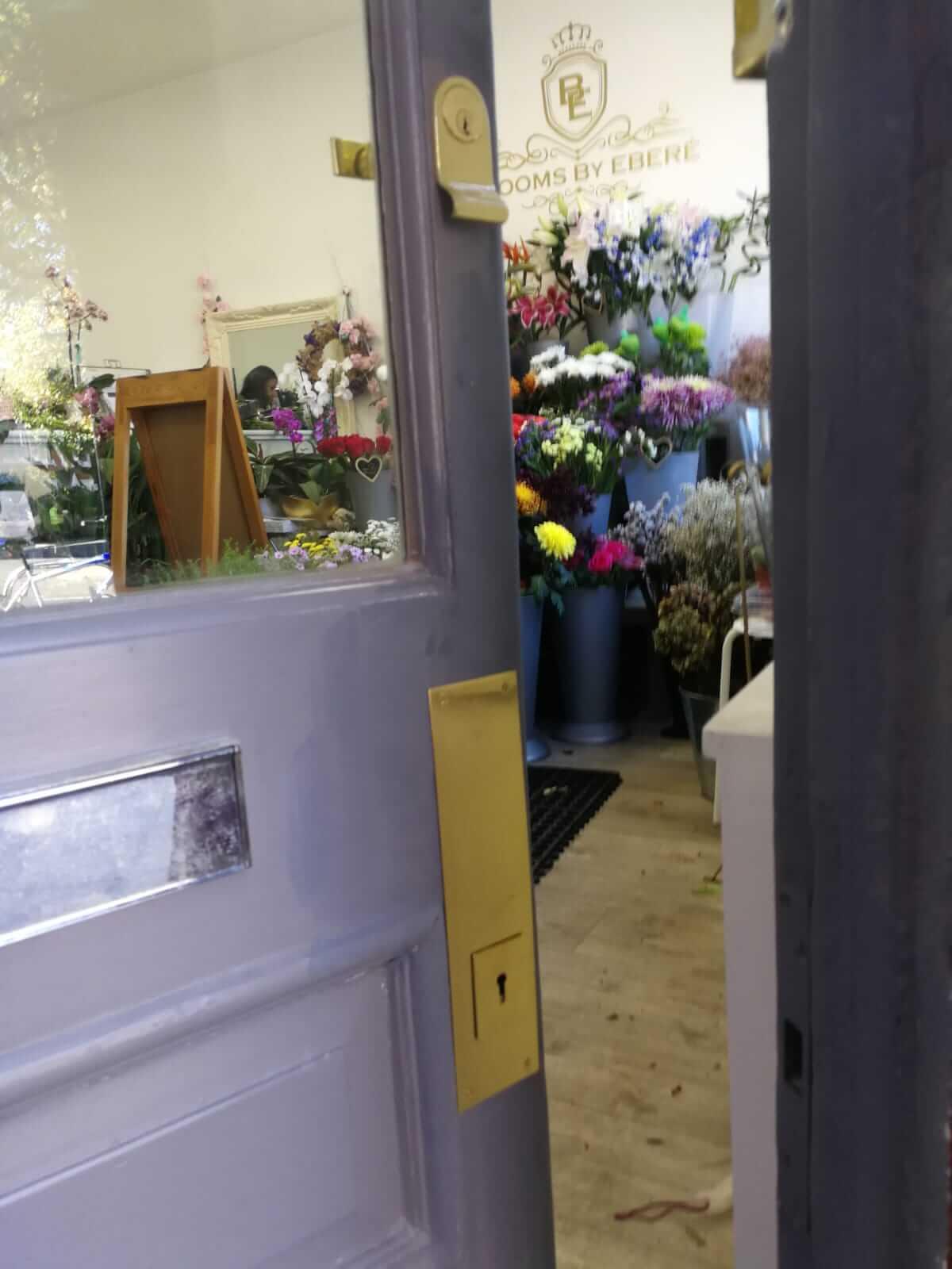 Emergency flower shop break-in